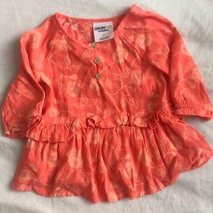 OshKosh B'gosh Orange frilly shirt. Size 3T $6